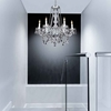 """Picture of 30"""" 6 Light Down Chandelier with Chrome finish"""