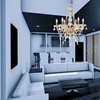 """Picture of 30"""" 6 Light Down Chandelier with Gold finish"""