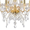 "Picture of 30"" 6 Light Down Chandelier with Gold finish"