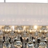 "Picture of 30"" 6 Light Drum Shade Chandelier with Chrome finish"