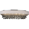 "Picture of 30"" 6 Light Drum Shade Flush Mount with Chrome finish"