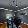 "Picture of 30"" 6 Light Multi Light Pendant with Black finish"