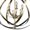 """Picture of 30"""" 6 Light Up Chandelier with Antique Brass finish"""