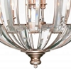 "Picture of 30"" 6 Light Up Chandelier with Antique Forged Sliver finish"