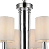 "Picture of 30"" 6 Light Up Chandelier with Chrome finish"