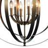 "Picture of 30"" 6 Light Up Chandelier with Satin Nickel finish"