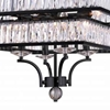 """Picture of 30"""" 8 Light  Chandelier with Black finish"""