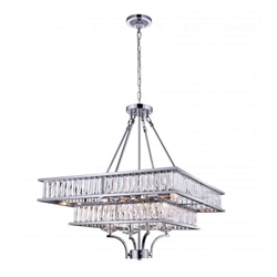 """30"""" 8 Light  Chandelier with Chrome finish"""