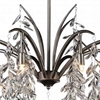 """Picture of 30"""" 8 Light Down Chandelier with Silver Mist finish"""