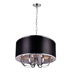 "30"" 8 Light Drum Shade Chandelier with Chrome finish"