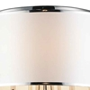 "Picture of 30"" 8 Light Drum Shade Flush Mount with Chrome finish"