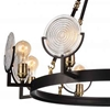 """Picture of 30"""" 8 Light Up Chandelier with Brown finish"""