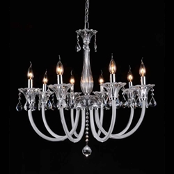 """30"""" 8 Light Up Chandelier with Chrome finish"""