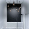 "Picture of 30"" 9 Light Multi Light Pendant with Black finish"