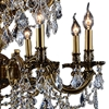 "Picture of 30"" Imperatore Traditional Crystal Candle Round Chandelier Antique Brass 16 Lights"