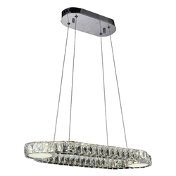 """30"""" LED  Chandelier with Chrome finish"""