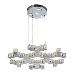 "30"" LED  Chandelier with Chrome finish"