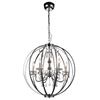 "Picture of 30"" Led Cage Modern Crystal Round Chandelier Polished Chrome 6 Lights"