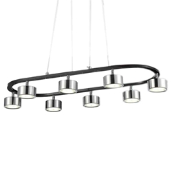 "30"" LED Down Pendant with Black & Chrome finish"