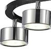 "Picture of 30"" LED Down Pendant with Black & Chrome finish"