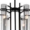 "Picture of 30"" Sierra Modern Black Iron Large Round Chandelier 6 Lights"
