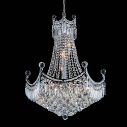 """31"""" 11 Light Down Chandelier with Chrome finish"""