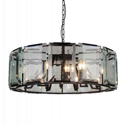 """31"""" 12 Light  Chandelier with Black finish"""