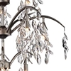 """Picture of 31"""" 12 Light Down Chandelier with Silver Mist finish"""