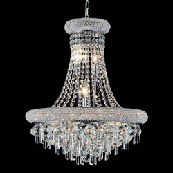 "31"" 17 Light Down Chandelier with Chrome finish"