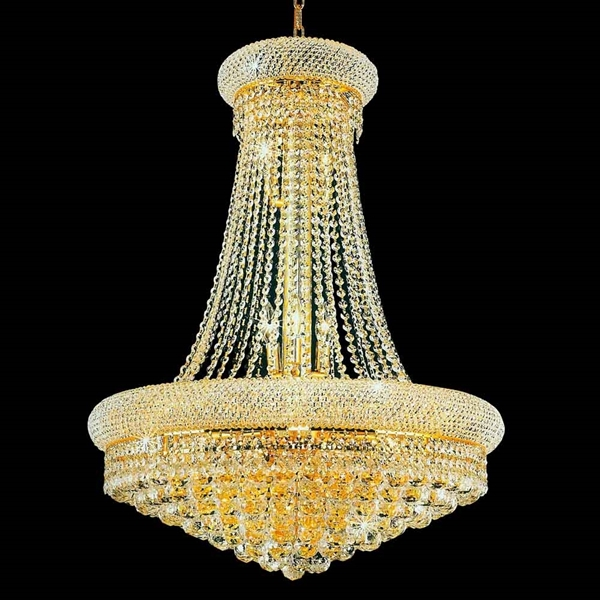 """Picture of 31"""" 17 Light Down Chandelier with Gold finish"""