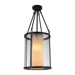 """31"""" 2 Light Candle Mini Pendant with Oil Rubbed Brown finish"""