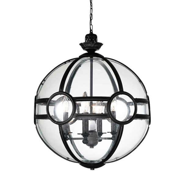 """Picture of 31"""" 5 Light  Pendant with Black finish"""