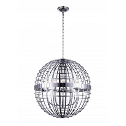 """31"""" 6 Light  Chandelier with Chrome finish"""
