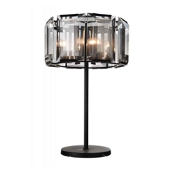 """31"""" 8 Light  Chandelier with Black finish"""