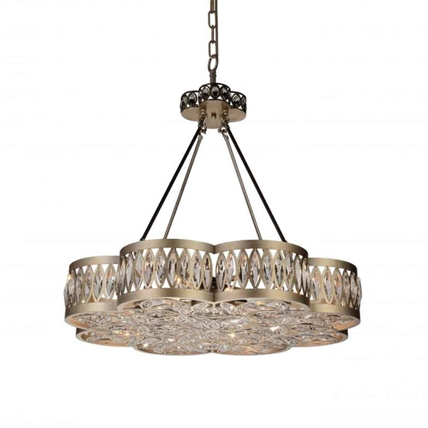 "Picture of 31"" 8 Light  Chandelier with Champagne finish"
