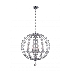 """31"""" 8 Light  Chandelier with Chrome finish"""