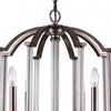 "Picture of 31"" 8 Light Candle Chandelier with Brownish Silver finish"