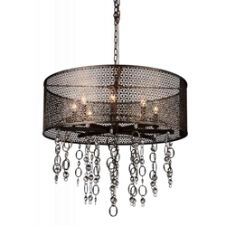 "31"" 8 Light Up Chandelier with Golden Bronze finish"