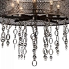"Picture of 31"" 8 Light Up Chandelier with Golden Bronze finish"