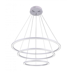"""31"""" LED  Chandelier with White finish"""