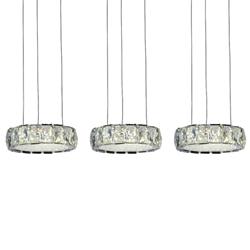 """31"""" LED Multi Light Pendant with Chrome finish"""