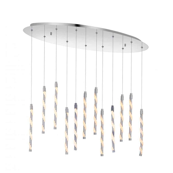 """Picture of 31"""" LED Multi Point Pendant with Chrome finish"""