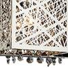 "Picture of 31"" Web Modern Laser Cut Crystal Rectangular (S) Vanity Light Stainless Steel 4 Lights"