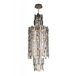 "32"" 10 Light Down Chandelier with Champagne finish"