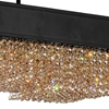 """Picture of 32"""" 10 Light Drum Shade Chandelier with Black finish"""