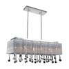 "Picture of 32"" 10 Light Drum Shade Chandelier with Chrome finish"