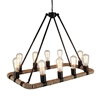 "Picture of 32"" 10 Light Up Chandelier with Brown finish"