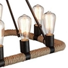 """Picture of 32"""" 10 Light Up Chandelier with Brown finish"""
