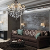 """Picture of 32"""" 10 Light Up Chandelier with Chrome finish"""