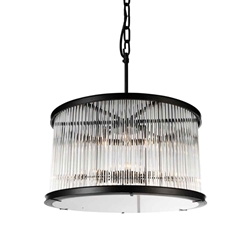 "32"" 12 Light  Chandelier with Black finish"